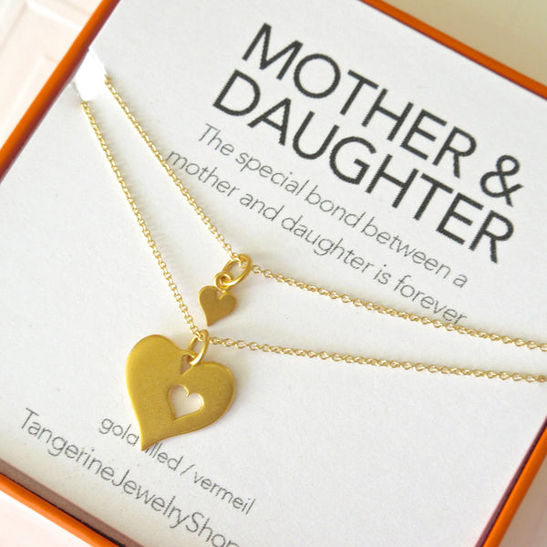 Mother Daughter Necklace Set Tangerine Jewelry Shop