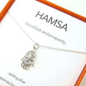 Hamsa Charm Necklace Set
