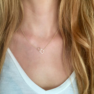 Gold Side Way Initial Necklace