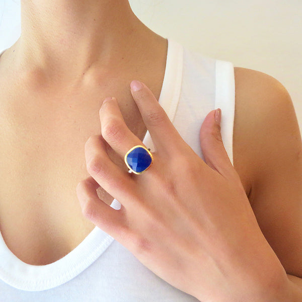 Lapis Statement Ring