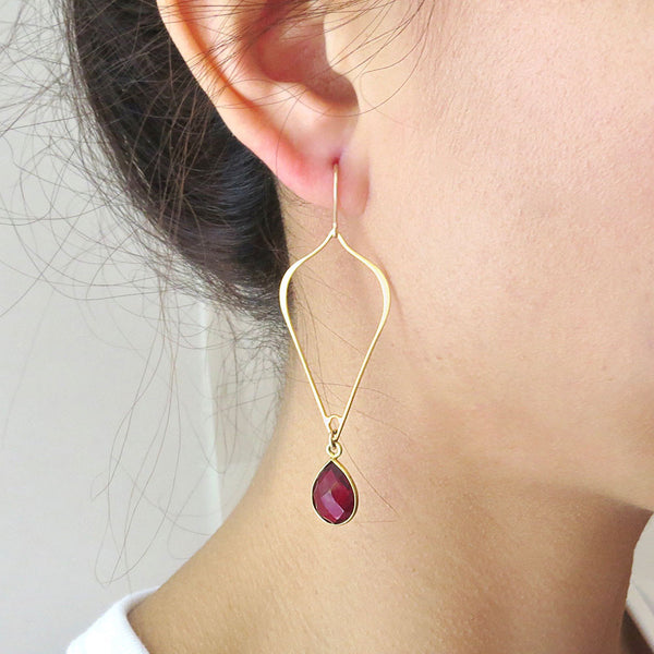 Gemstone Arabesque Earrings