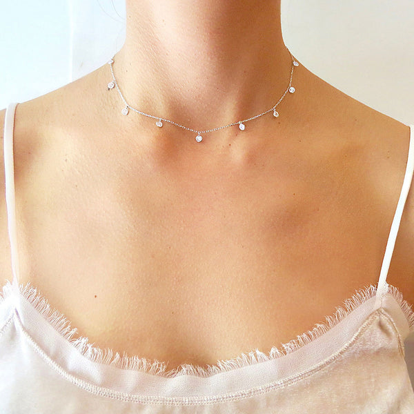 Solitaire Choker Necklace