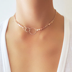 Triple Circle Coin Choker