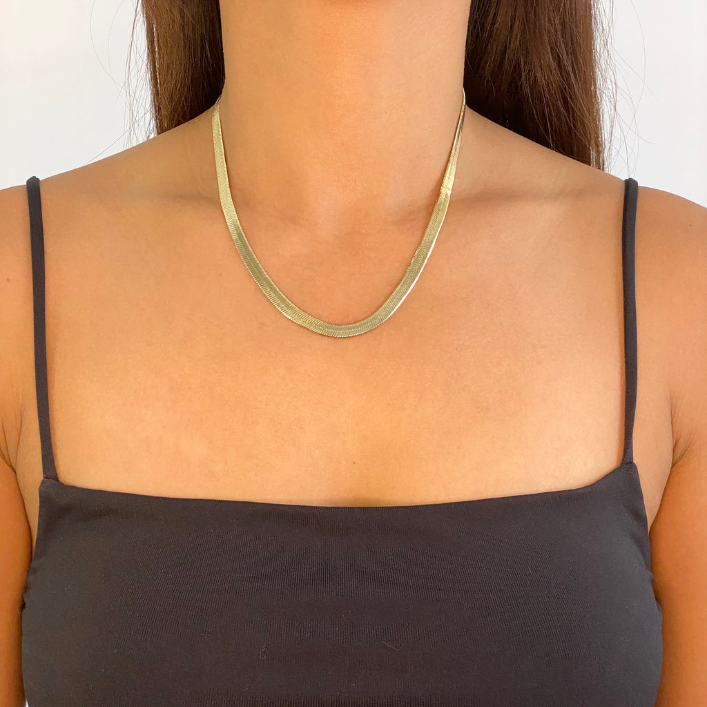 Herringbone Snake Chain Necklace
