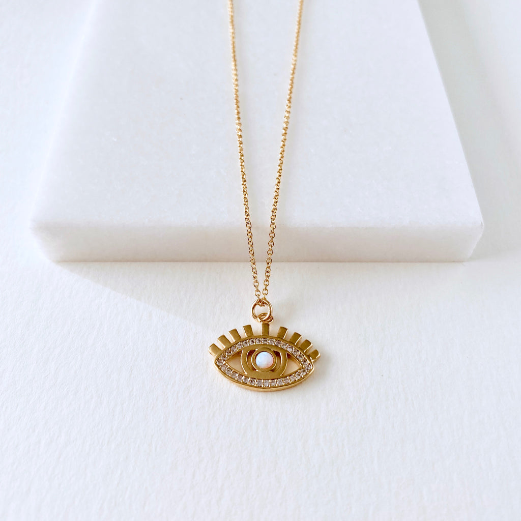 Eye Pendant Coin Necklace