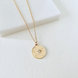 Star & Opal Pendant Necklace