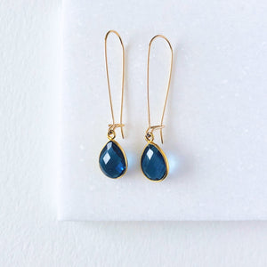 Gold Dangle Gemstone Earrings