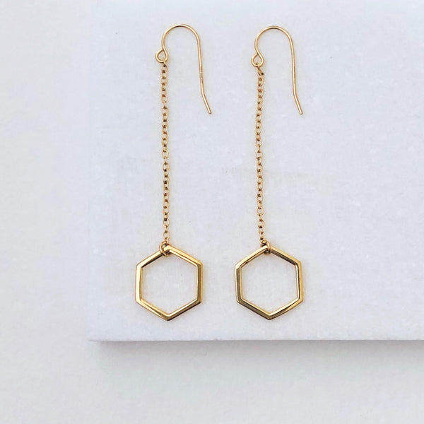 Honeycomb Dangle Earrings