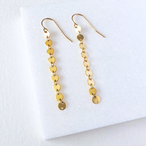 Long Dot Drop Earrings