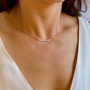 Petite Herkimer Diamond Necklace