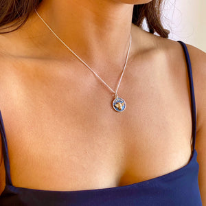Moon Phase Bee Charm Necklace