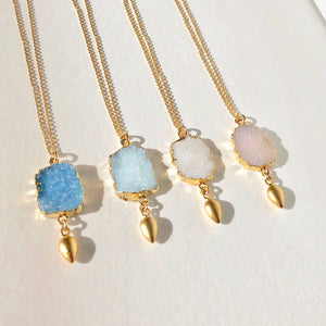 Druzy Necklace Dangle Necklace