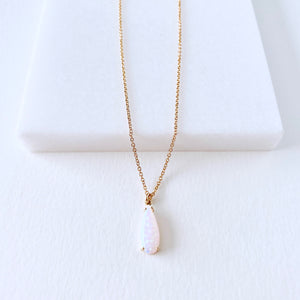 Tear Drop Opal Necklace