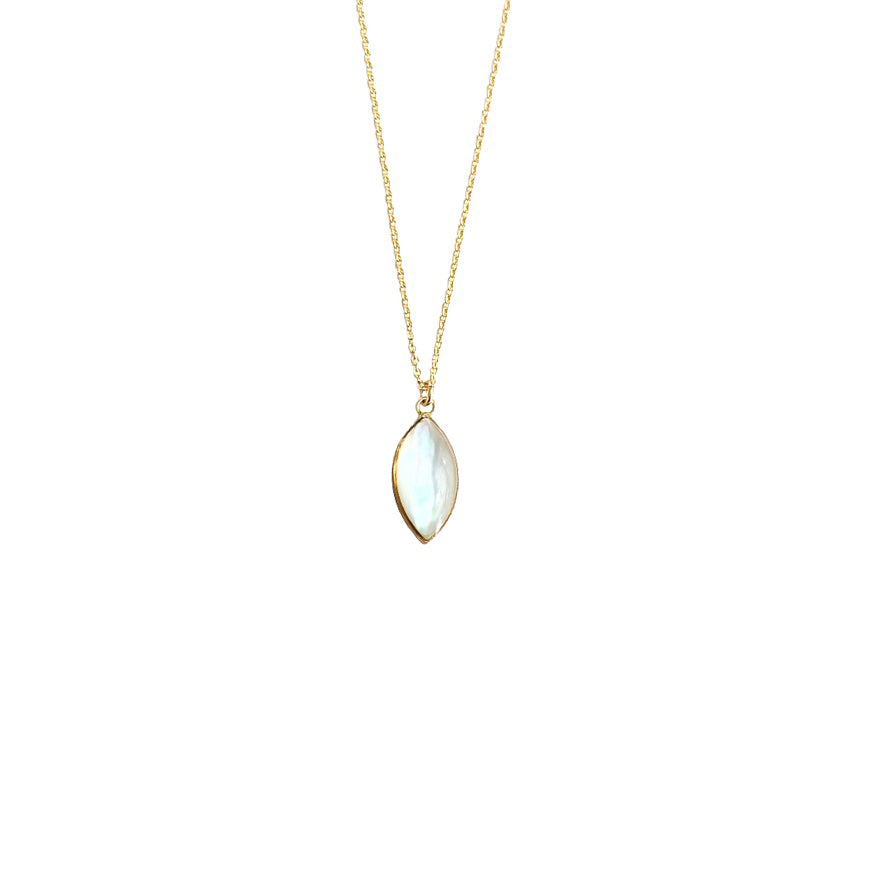 Mother of Pearl Marquis Necklace