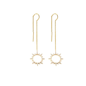 Sun Threader Earrings