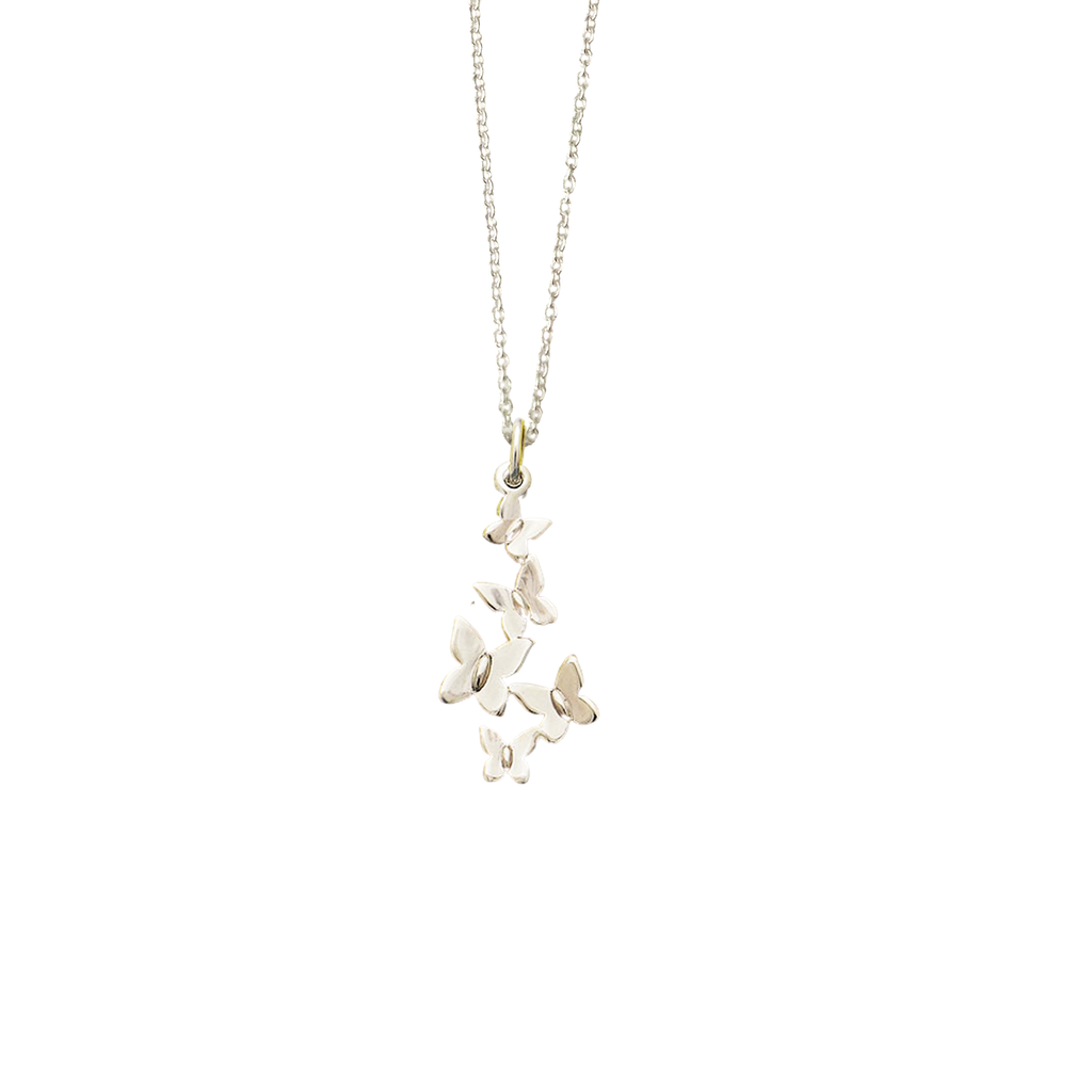 Butterfly Cluster Charm Necklace