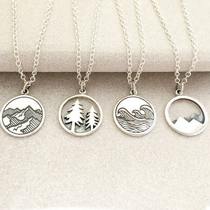 Mountains Pendant Necklace