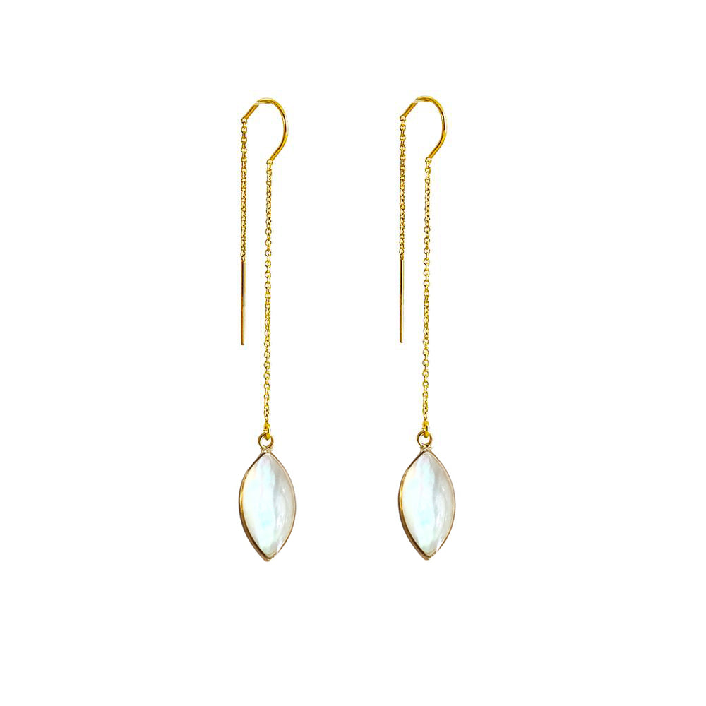 Mother of Pearl Threader Earrings