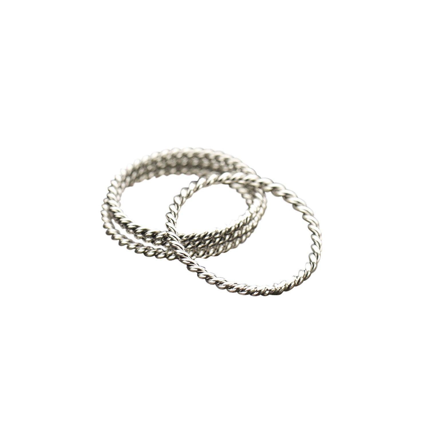 Silver Twisted Wire Stacking Ring - Tangerine Jewelry Shop