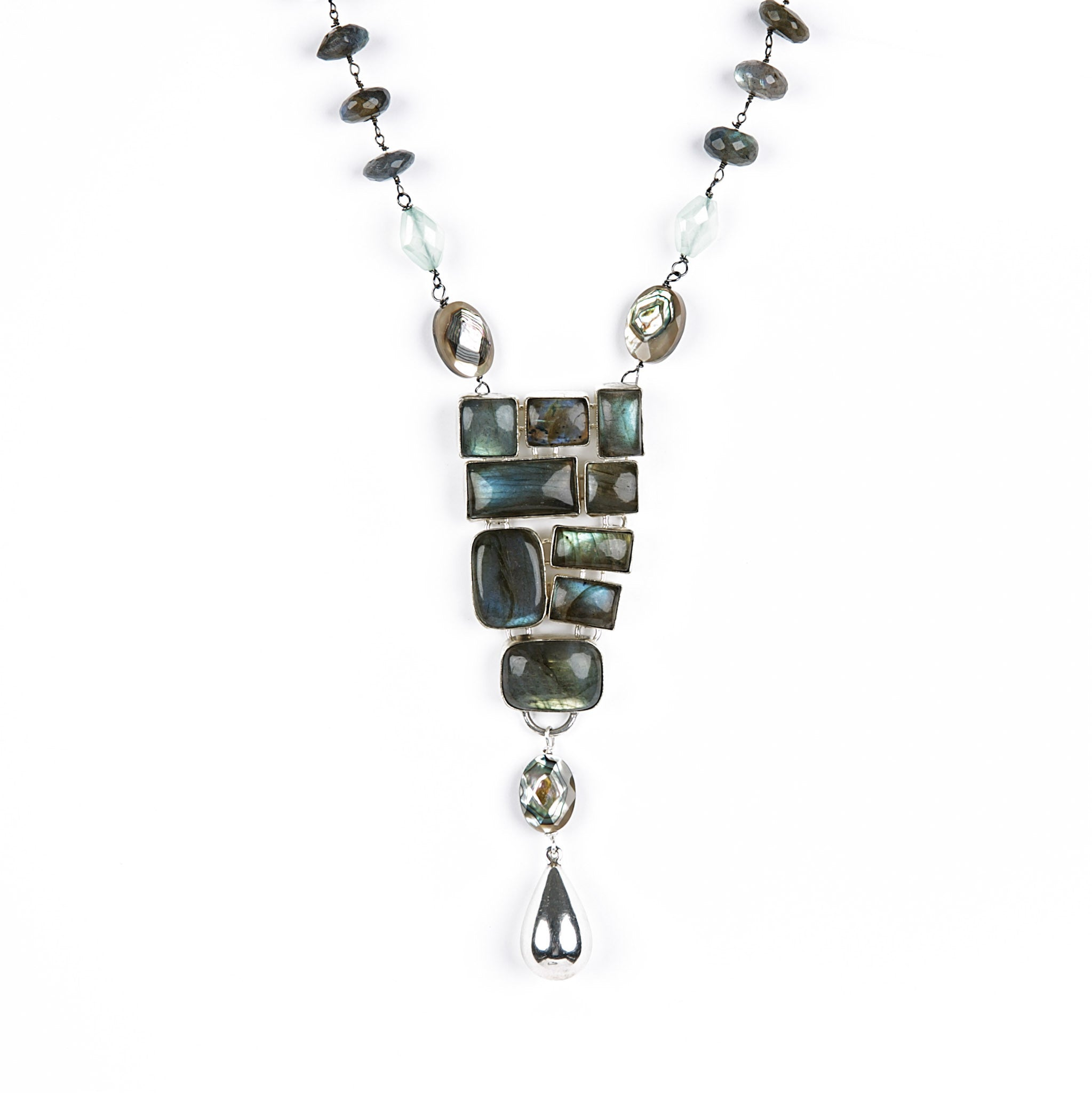 vinader in labradorite gallery siren monica jewelry medium lyst bezel pendant gray