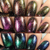 The Multichrome Magnetic Galaxy Trio