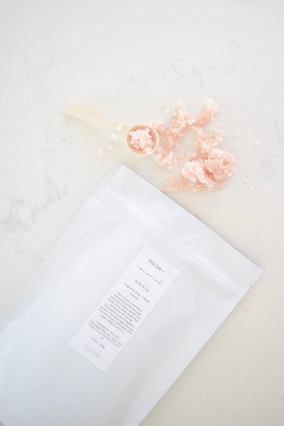 pink salt body scrub