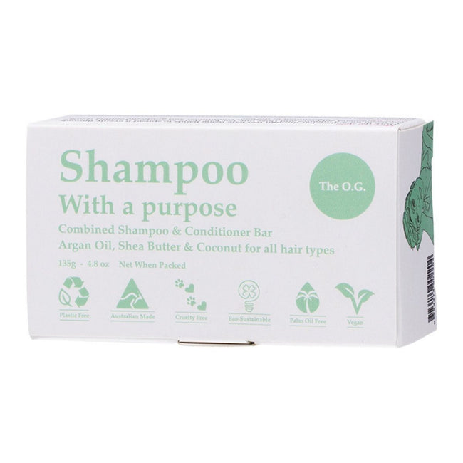 Shampoo & Conditioner Bar for All Hair Types (135g) - Anzfo