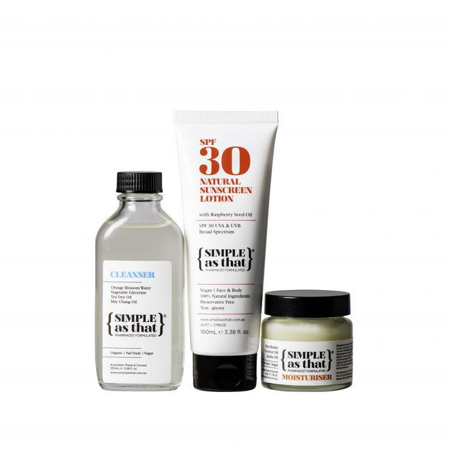 Cleanser | Sunscreen | Moisturiser -  Bundle - Anzfo