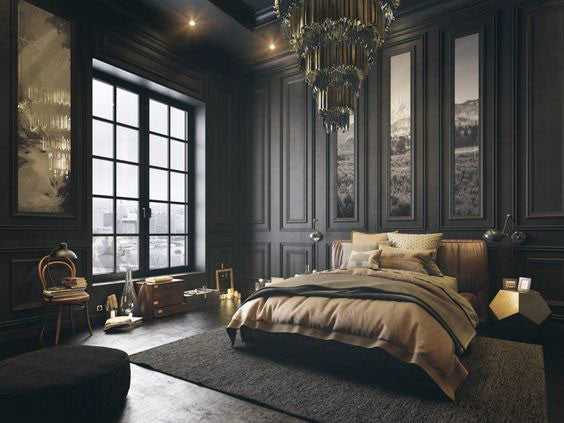 23 Charming Beige Living Room Design Ideas To Brighten Up: Dark Bedrooms: 5 Beautiful Black Rooms To Sleep In