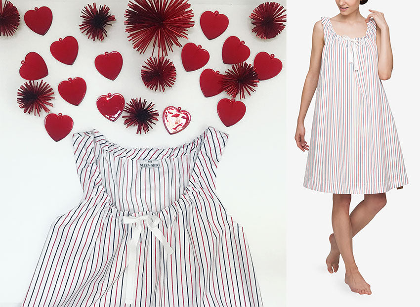 Luxury striped nightie