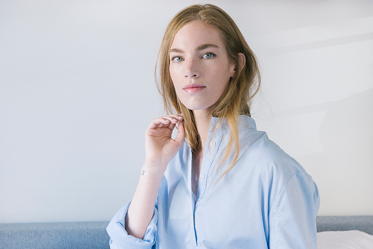 Blue cotton nightshirt by The Sleep Shirt