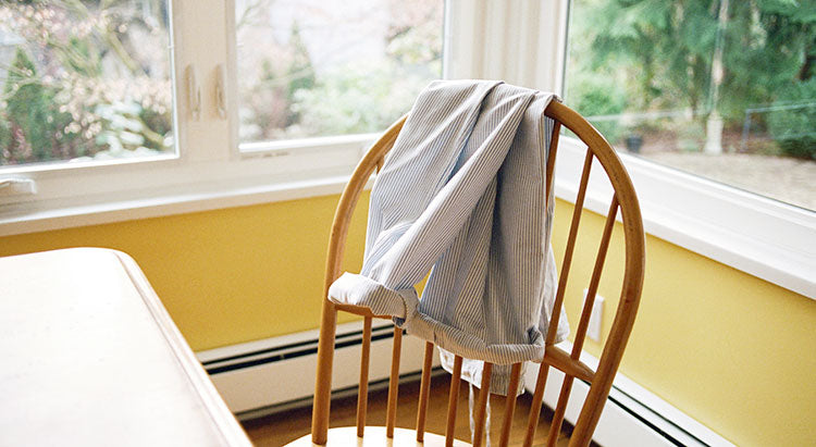 cotton lounge pants on a chair