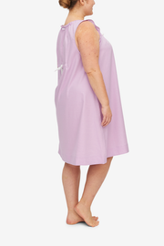 Sleeveless Nightie Rose Royal Oxford PLUS