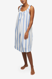 Sleeveless Nightie Giant Blue Stripe