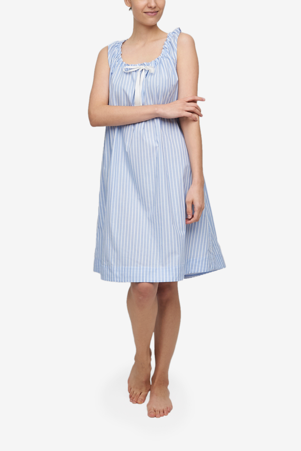 Sleeveless Nightie Tricolour Stripe