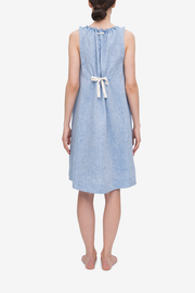 Sleeveless Nightie Blue Linen