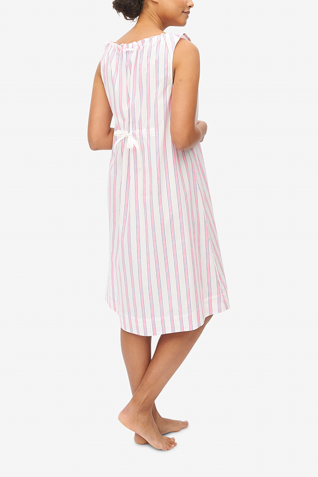 Sleeveless Nightie Fluo Pink Stripe - EUROPE