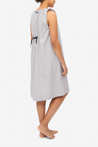 Sleeveless Nightie Grey Flannel