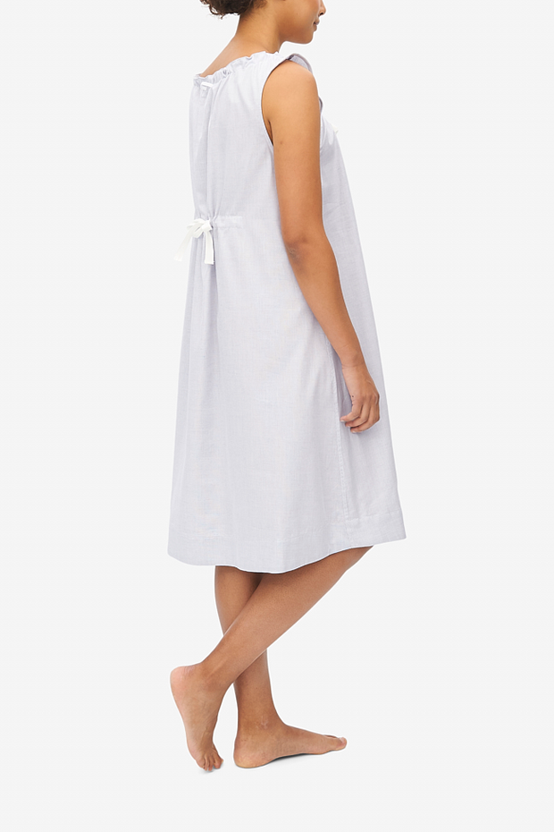 Sleeveless Nightie Grey Point Cotton