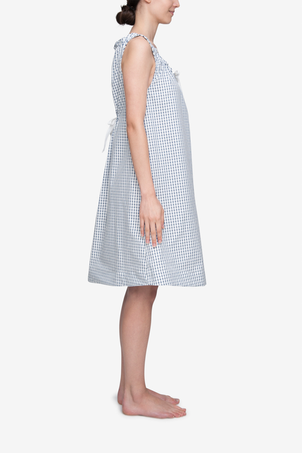 Sleeveless Nightie Navy Shepherds Check