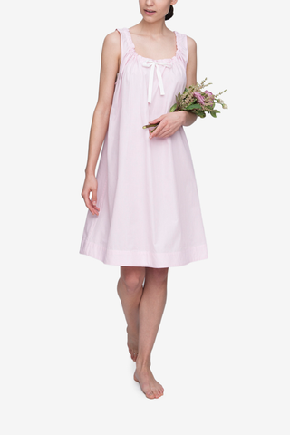 Sleeveless Nightie Rayures Roses