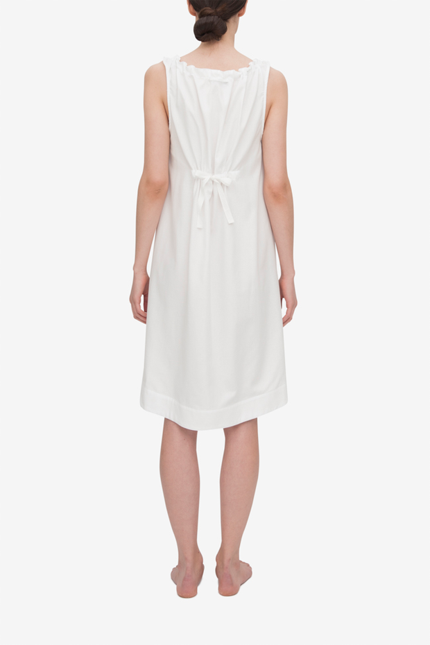 Sleeveless Nightie White Royal Oxford