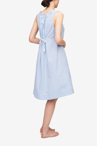 Sleeveless Nightie Cook's Blue Stripe
