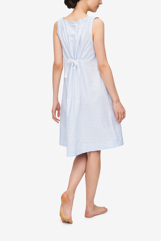 Sleeveless Nightie Cross Blue Stripe