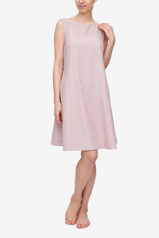 Belted Dress Blush Linen