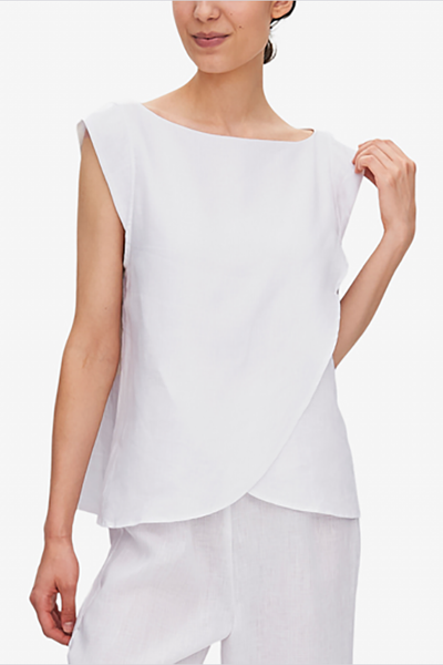 Crossover Top White Linen