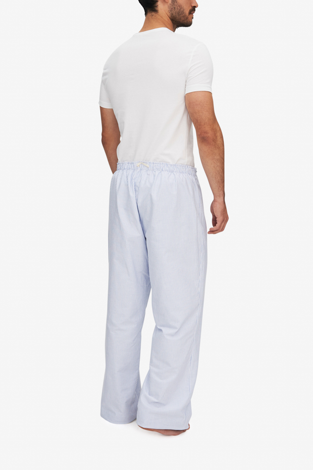 Lounge Pant Mens Blue Oxford Stripe