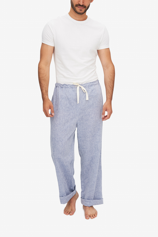Lounge Pant Mens Linen Chambray