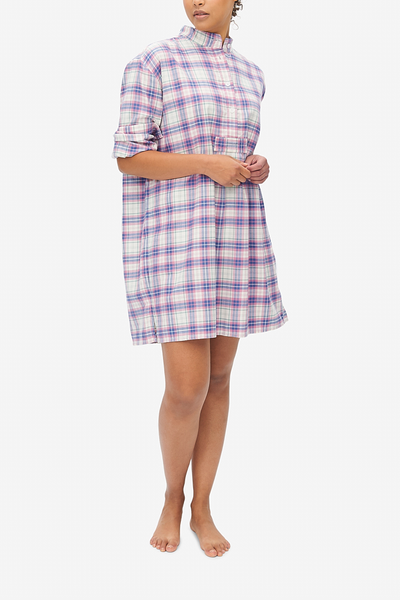 Short Sleep Shirt Pink Carnaby Plaid