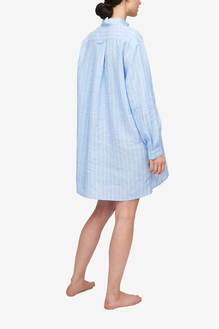 Short Sleep Shirt Como Stripe Linen